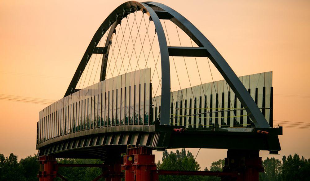 Passerella ciclopedonale di attraversamento dell'Autostrada A27  a Casale sul Sile